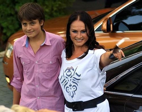 София Ротару с внуком