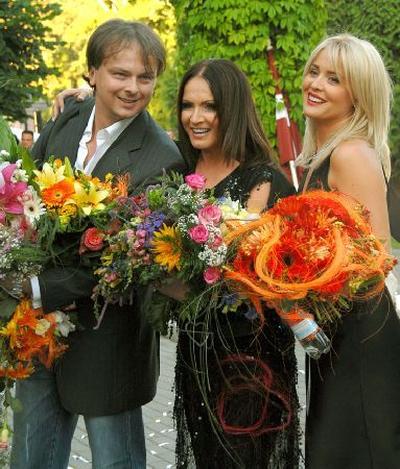 София Ротару с сыном и невесткой