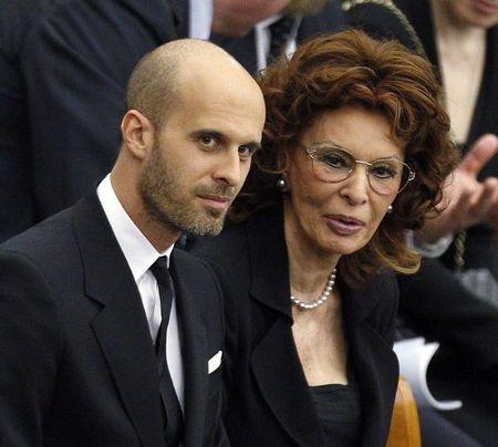 Софи Лорен со своим сыном Эдоардо Понти