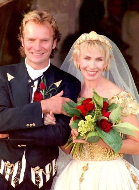 Стинг и Труди Стайлер. Свадебное фото. 1992 год