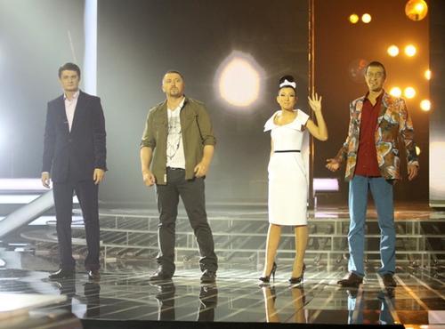 Судьи шоу Х-фактор: Игорь Кондратюк, Серега, Елка и Сергей Соседов