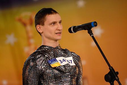 29-летний Тарас Надточий из Киева. Номер на шоу: артист оригинального жанра contortion
