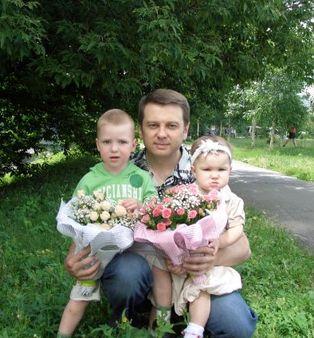 Тимофей с приемным сыном Вадимом и биологической дочерью Каролиной