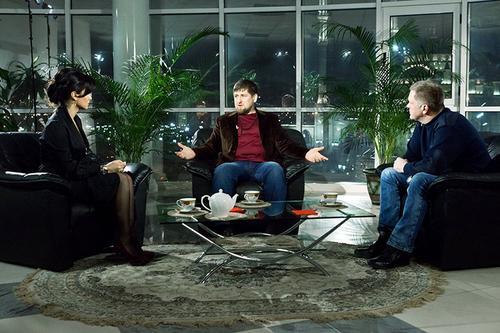 Тина Канделаки, Рамзан Кадыров и Андрей Колесников