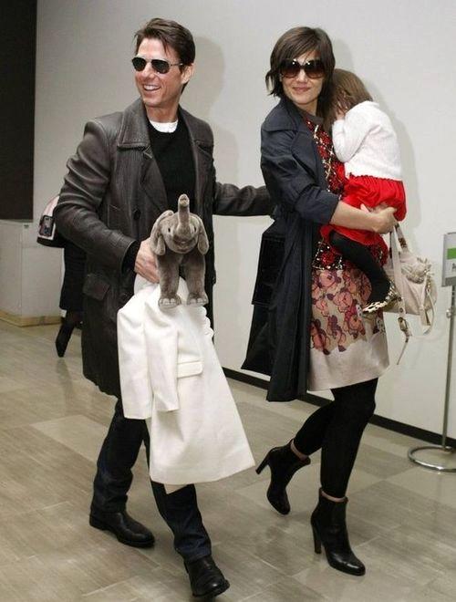Том Круз и Кэти Холмс с дочерью