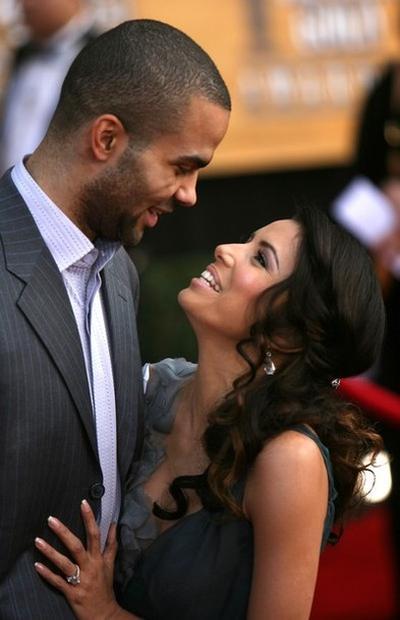 Ева Лонгория со своим вторым мужем Тони Паркером