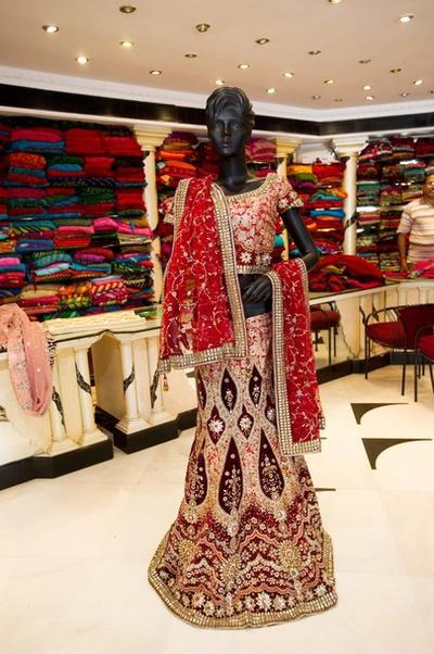Традиционный наряд невесты в Индии