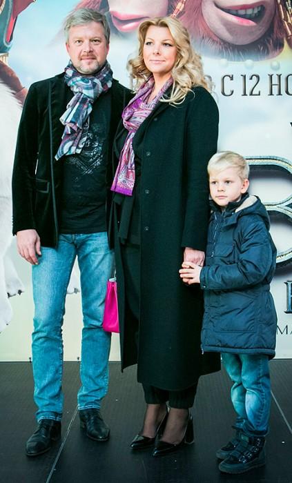 Валдис Пельш с семьёй