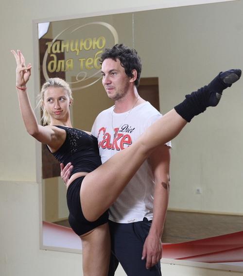 Валерий Харчишин и София Новикова на тренировке