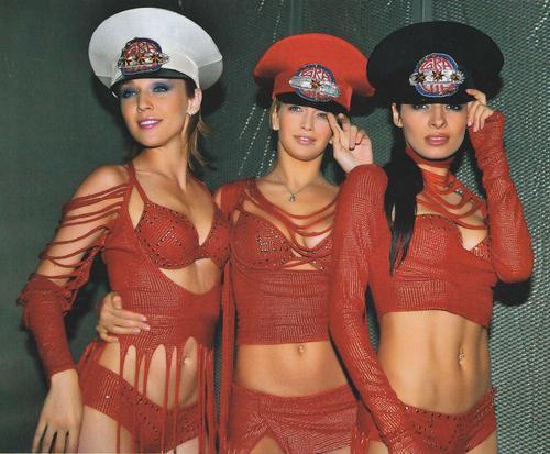 Группа «ВИА Гра»: Альбина Джанабаева, Вера Брежнева и Надя Грановская