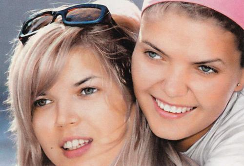 Двойняшки Вика и  Настя