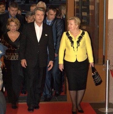 Виктор Ющенко с супругой и Верой Ульянченко