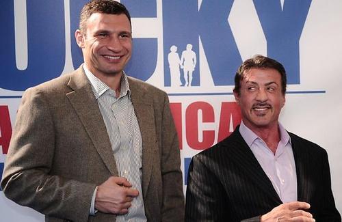 Виталий Кличко и Сильвестр Сталлоне