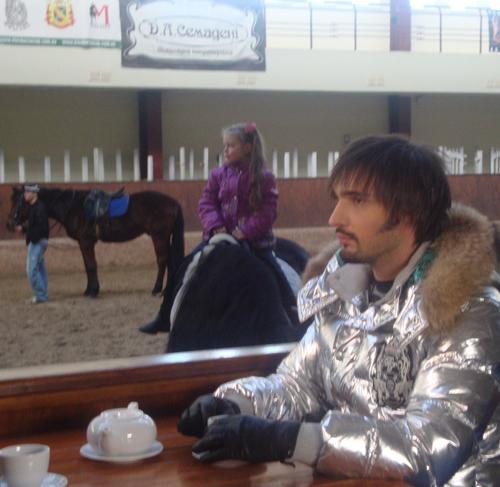 Виталий Козловский на съемках сериала «Бардак»