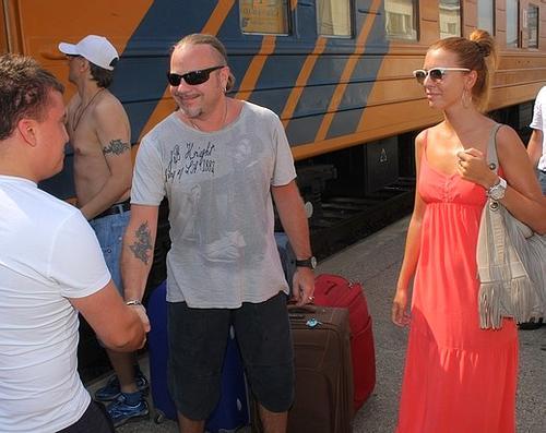 Владимир Пресняков с супругой Натальей Подольской