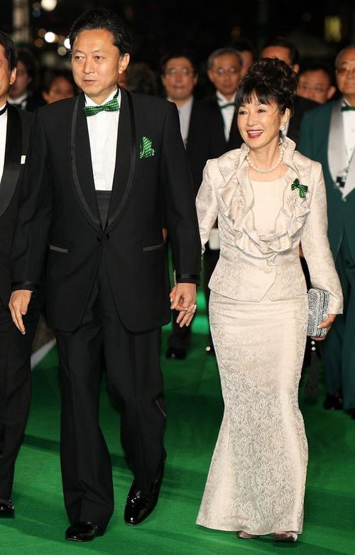 Премьер-министр Японии Юкио Хатояма с супругой Миюки
