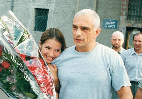 Евгения Карр с отцом Александром Тимошенко