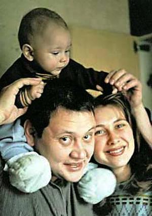 Юрий Степанов с супругой Ириной и сыном Костей