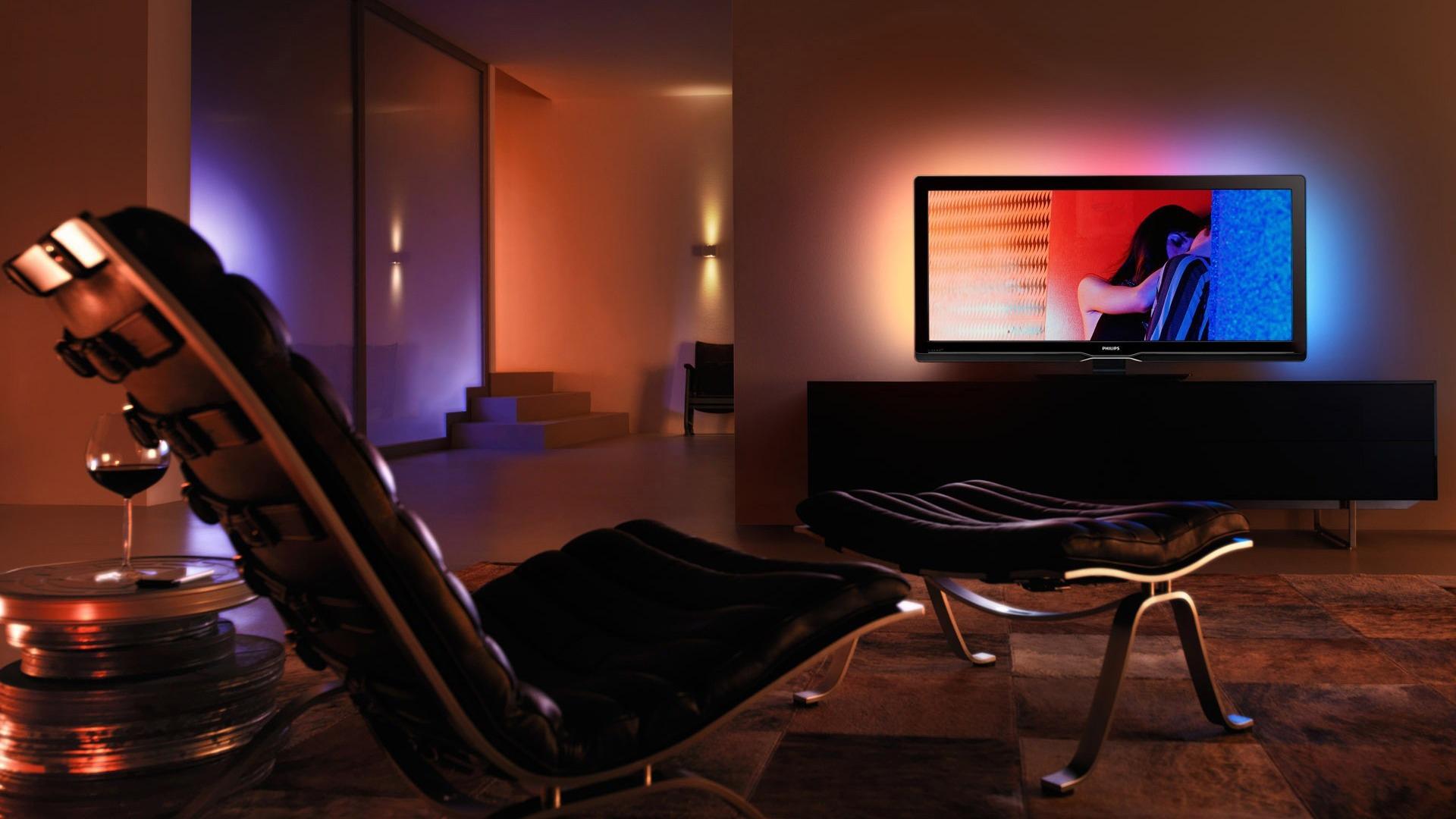 HD телевизор в гостиной