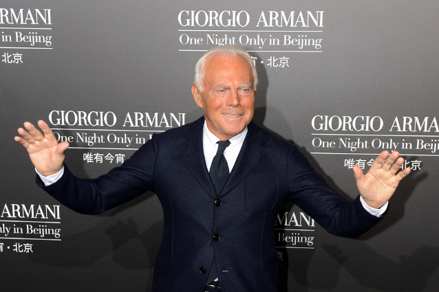 Джорджио Армани, модельер