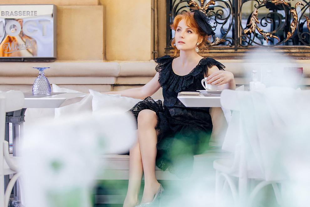 Полина Кутепова в съёмке для vogue.ru