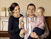 Алексей Янин с женой и сыном