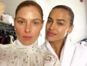 Ирина Шейк и её подруга без макияжа