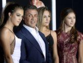Сильвестр Сталлоне с дочерьми