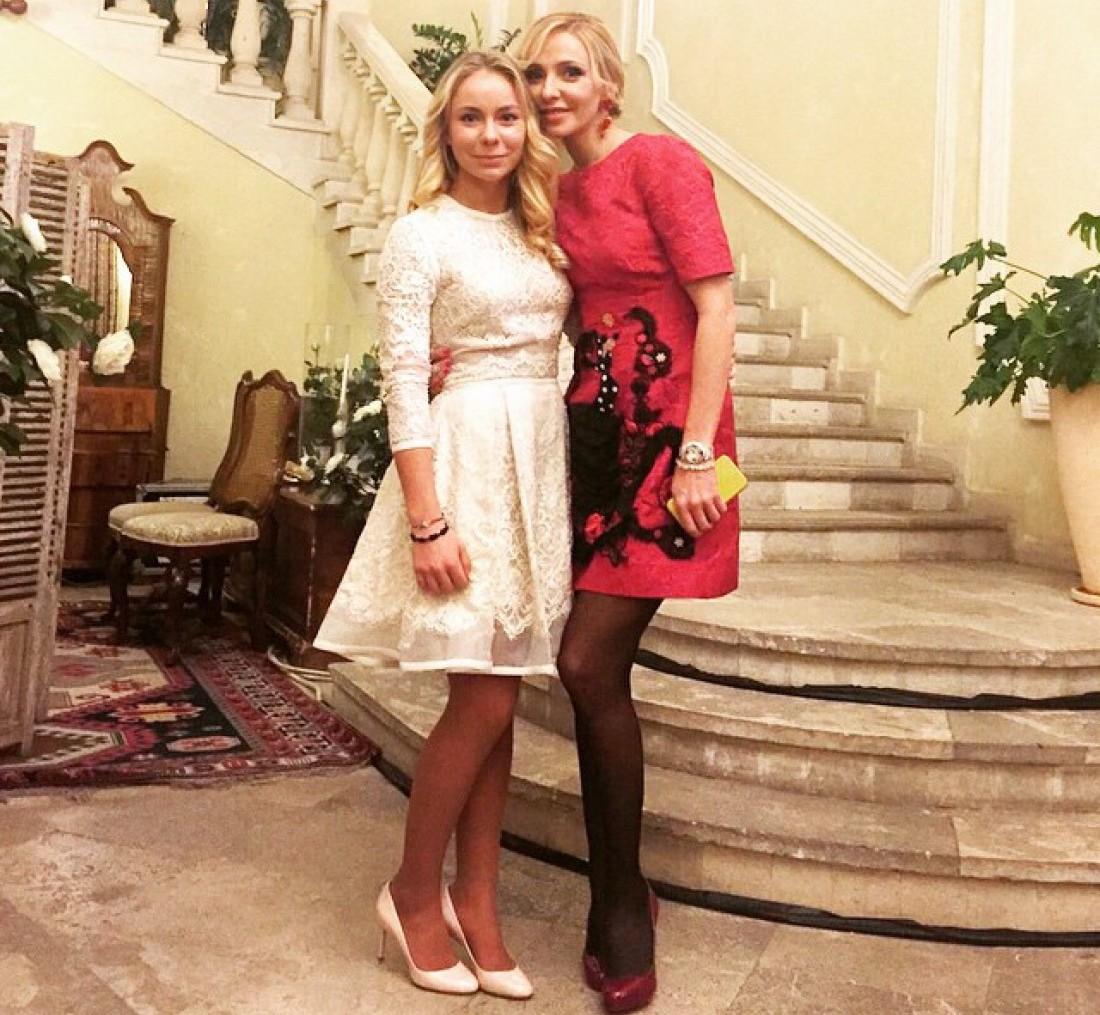 Татьяны Навка с дочерью Александрой