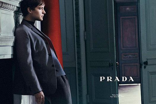 Тоби Магуайр в рекламной кампании Prada